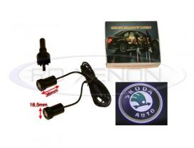 Set LED Logo Laser Cree 7W - SKODA