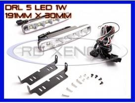 DRL 5-LED 1W - 191mm x 30mm