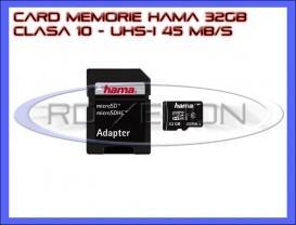 Hama Micro SDHC 32GB Clasa 10 UHS-I 45MB/s + Adaptor SD