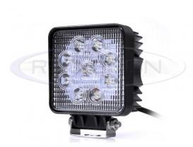 Proiector LED Offroad 27W Patrat - Raza 60°