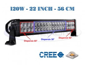 Proiector Offroad LED CREE Drept 56cm 120W - Combo Beam